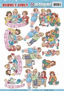 Yvonne Bubbly Girls 3D Pushout SB10286-HJ16001 Crafting Girl
