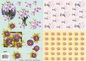 A4 Knipvel TBZ 572285 Duo bloemen