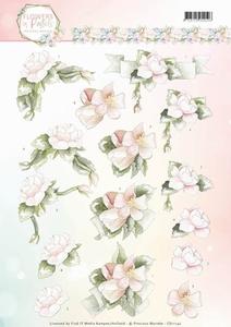 3D Knipvel Marieke Flowers in Pastels CD11142 Believe in