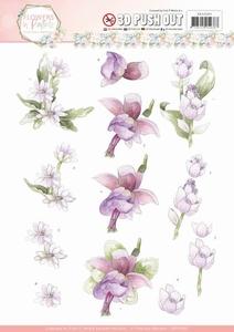 3D Stansvel Marieke Flowers in Pastels SB10283 Lilac Mist