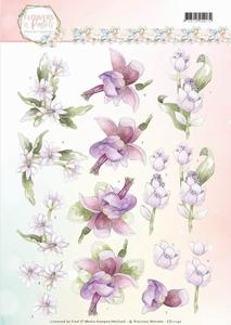 3D Knipvel Marieke Flowers in Pastels CD11140 Lilac Mist