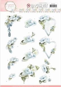 3D Stansvel Marieke Flowers in Pastels SB10284 Blue Dreams