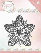 Die Marieke Flowers in Pastels PM10135 Reverse Flower