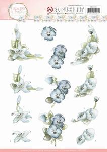 3D Stansvel Marieke Flowers in Pastels SB10282 True Blue