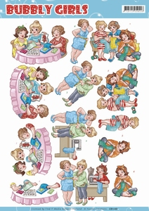 Yvonne Bubbly Girls 3D Knipvel CD11161 Crafting Girls