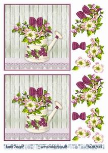 A4 Knipvel Barto Design  67564 Gieter met bloemen