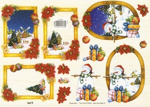 A4 Kerstknipvel TBZ 572338 Kerst kaders