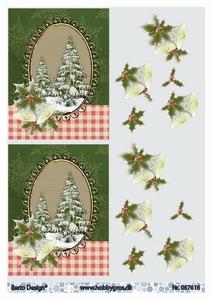 A4 Knipvel Barto Design  67616 Besneeuwde dennenboom & hulst