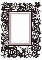 Hobby Solutions Dies HSEFD004 Rectangle-floral