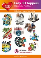 Hearty Crafts Easy 3D Toppers HC10686 Sports & Hobby 2