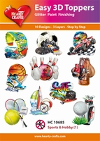 Hearty Crafts Easy 3D Toppers HC10685 Sports & Hobby 1