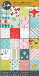 Sizzix Cardstock Pad 651160 Merry & Bright
