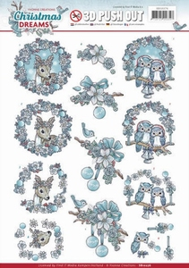 3D Push Out Yvonne Creations SB10276 Christmas Dreams Animal