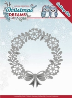 Yvonne's Die YCD10143 Christmas Dreams Poinsettia Wreath