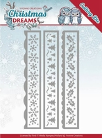 Yvonne's Die YCD10141 Christmas Dreams Borders