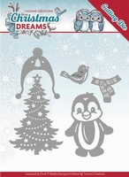 Yvonne's Die YCD10144 Christmas Dreams Penguin