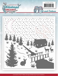 Yvonne Cut & Embossing Folder YCEMB10009 Christmas Dreams