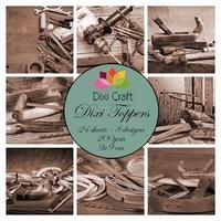 Dixi Craft Mini toppers ET0302 set tools - sepia