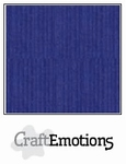 CraftEmotions A4 linnenkarton 1100 saffierblauw