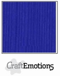 CraftEmotions A4 linnenkarton 1105 kobaltblauw