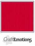 CraftEmotions A4 linnenkarton 1205 vuurrood