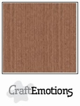 CraftEmotions A4 linnenkarton 1275 terra bruin