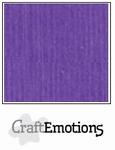 CraftEmotions A4 linnenkarton 1125 purperviolet