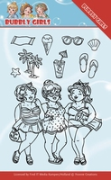 Yvonne Bubbly Girls Clear Stamps YCCS10042 Beach Girls