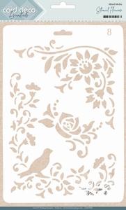 Card Deco Essentials Mixed Media Stencil CDEST005 Flowers