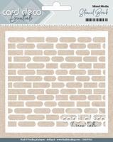 Card Deco Essentials Mixed Media Stencil CDEST002 Brick