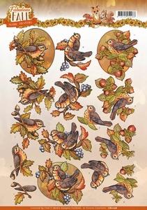 3D Knipvel Yvonne CD11156 Fabulous Fall Birds