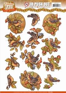 3D Stansvel Yvonne SB10289 Fabulous Fall Birds