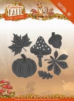 Yvonne's Die YCD10149 Fabulous Fall Autumn Leaves
