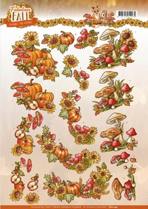3D Knipvel Yvonne CD11154 Fabulous Fall Bouquets