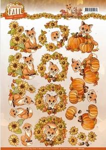 3D Knipvel Yvonne CD11155 Fabulous Fall Foxes
