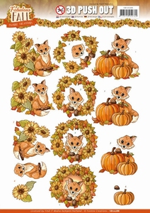 3D Stansvel Yvonne SB10288 Fabulous Fall Foxes