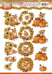 3D Stansvel Yvonne SB10288 Fabulous Fall Foxes