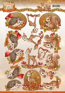 3D Knipvel Yvonne CD11157 Fabulous Fall Animals