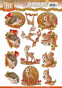 3D Stansvel Yvonne SB10290 Fabulous Fall Animals