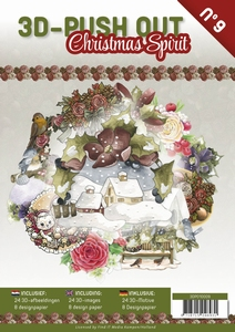 A4 Push Out Book 3D PO10009-NL Christmas Spirit