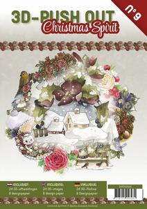 3D Push Out Book 3DPO10009-NL Christmas Spirit