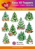 Hearty Crafts Easy 3D Toppers HC10253 Winter trees