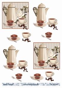 A4 Knipvel Barto Design 67641 Koffie