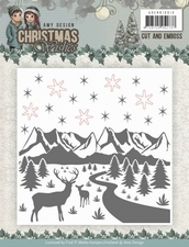Amy Design ADEMB10010 Cut and Emboss Folder Christmas Wishes