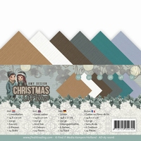 Amy Design Linnenkarton AD-A5-10016 Christmas Wishes
