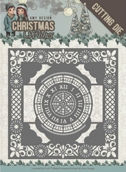 Amy Design Die ADD10148 Christmas Wishes Twelve O'clock fram