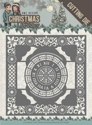 Amy Design Die ADD10148 Christmas Wishes Twelve O'clock fram