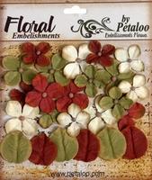 Petaloo darjeeling hydrangea 1460 roodbruin/crème/olijfgroen