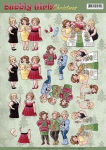 Yvonne Bubbly Girls 3D Knipvel CD11192 Christmas Cheers