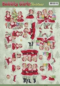 Yvonne Bubbly Girls 3D Knipvel CD11194 Christmas Dresses